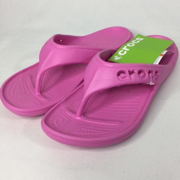 4875b4dd63e166 CROCS Shoes - Crocs Baya Flip Flops in Party Pink Bubblegum Pink
